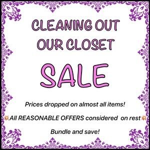 Sale - Clearing Out Closet